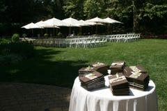 Wedding Programs. Sitting on a table Stock Image