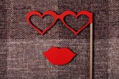 Wedding props sponge and glasses Stock Image