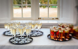 Wedding punch and champagne Stock Photos
