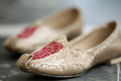 Wedding punjabi shoes Royalty Free Stock Photo