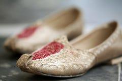 Wedding punjabi shoes royalty free stock photo