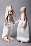 Wedding rabbits Royalty Free Stock Photography