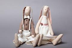 Wedding rabbits Stock Image