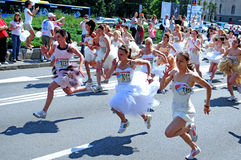 A 'Wedding Race' event Royalty Free Stock Images