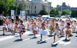 A 'Wedding Race' event stock photography