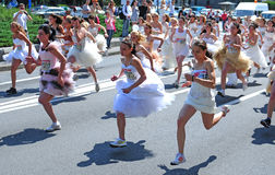 A 'Wedding Race' event royalty free stock photo