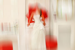 Wedding.  Radial zoom blur effect defocusing filter applied, wit Stock Images