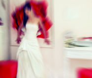 Wedding.  Radial zoom blur effect defocusing filter applied, wit Royalty Free Stock Photography