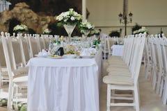 Wedding reception. Wedding banquet in a restaurant Stock Photos