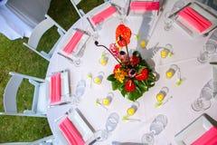 Wedding Reception Area Stock Photo