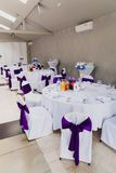 Wedding reception area ready for guests and the Royalty Free Stock Images