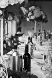 Wedding reception arrangement Stock Images