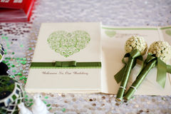 Wedding reception. A attendance book printed welcome sign at a wedding reception Royalty Free Stock Image