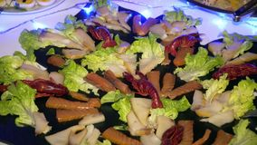 Wedding buffet: beautifully presented dishes stock video footage