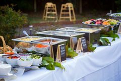 Wedding Reception Buffet Dinner Royalty Free Stock Photography