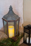 Wedding Reception Candle Decor Royalty Free Stock Images