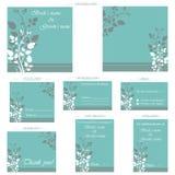 Wedding Reception Card. Illustration of set of wedding reception invitation card Stock Image