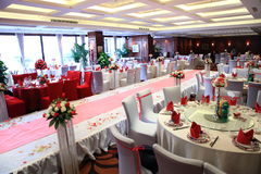 Wedding reception in China Stock Photo