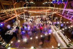 Wedding Reception Dancing Long Exposure royalty free stock photos