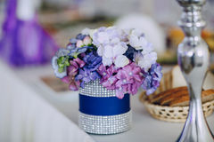 Wedding reception decor food Stock Image