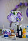 Wedding reception decor food Stock Images