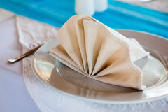 Wedding Reception Detail - Place Setting Stock Photo