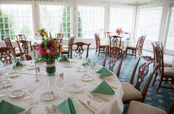 Wedding Reception Dining Room Royalty Free Stock Images