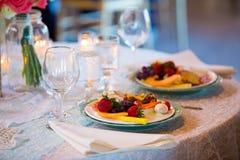 Wedding Reception Dinner Stock Images