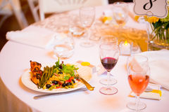 Wedding Reception Dinner Royalty Free Stock Image