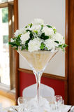 Wedding reception floral arrangment Stock Photos