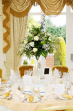 Wedding reception flower arrangement stock images