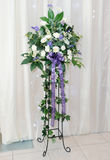 Wedding reception flower arrangement Stock Image