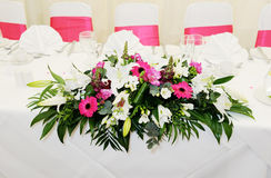 Wedding reception flowers Royalty Free Stock Photo