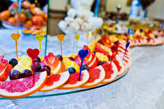 Wedding reception of fruits Royalty Free Stock Images