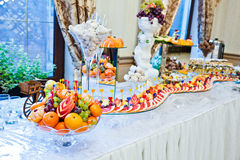 Wedding reception of fruits Royalty Free Stock Photography