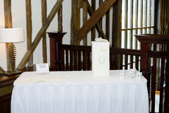 Wedding reception gift table Stock Image