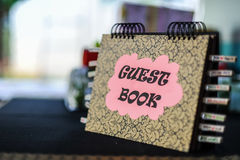Wedding Reception Guest Book Royalty Free Stock Image