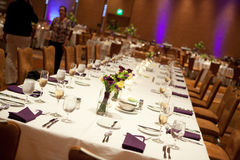Wedding reception head table Stock Images