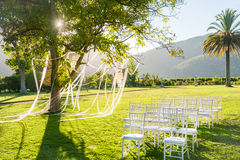 Wedding Reception In A Beautiful Park Royalty Free Stock Photos