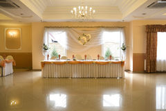 Wedding reception interior Royalty Free Stock Photo
