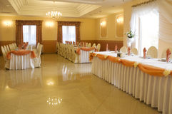 Wedding reception interior Royalty Free Stock Images