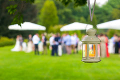 Wedding reception outdoor Royalty Free Stock Photo