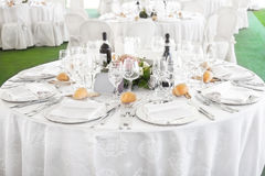 Wedding reception outdoor Stock Image