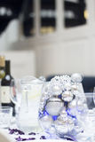 Wedding reception party dinner table Royalty Free Stock Photography