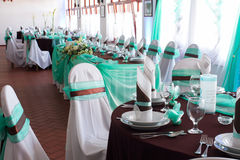 Wedding reception place ready to receive guests Stock Image