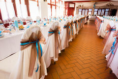 Wedding reception place ready to receive guests Royalty Free Stock Photography