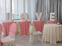 Wedding reception Stock Images