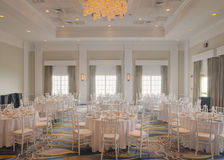 Wedding reception room Stock Photos