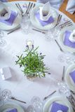 Wedding reception room, tables set and ready. Lovely wedding venue - Wedding reception room, tables set and ready Royalty Free Stock Photo