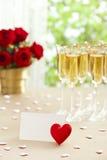 Wedding reception setting Stock Photography